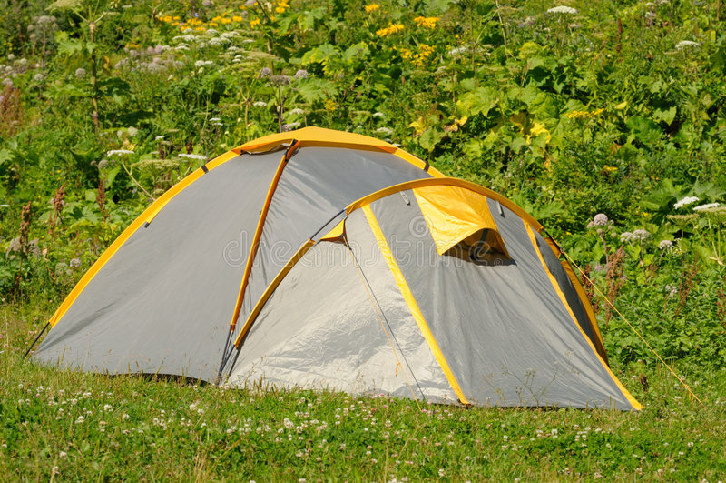 Touristisches Zelt stockfoto