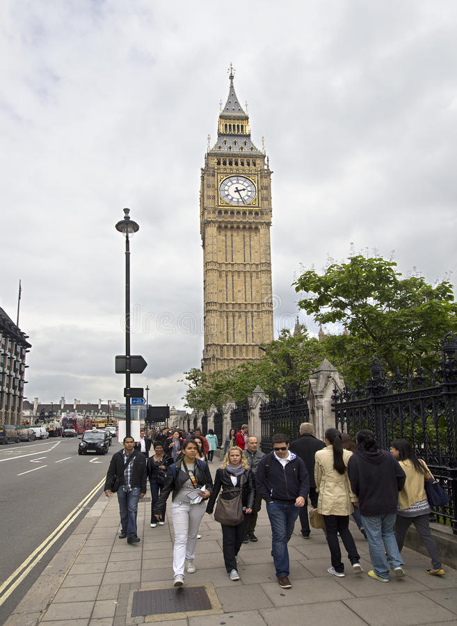 Download Tourists at Big Ben editorial photo. Image of cloudy - 21233971