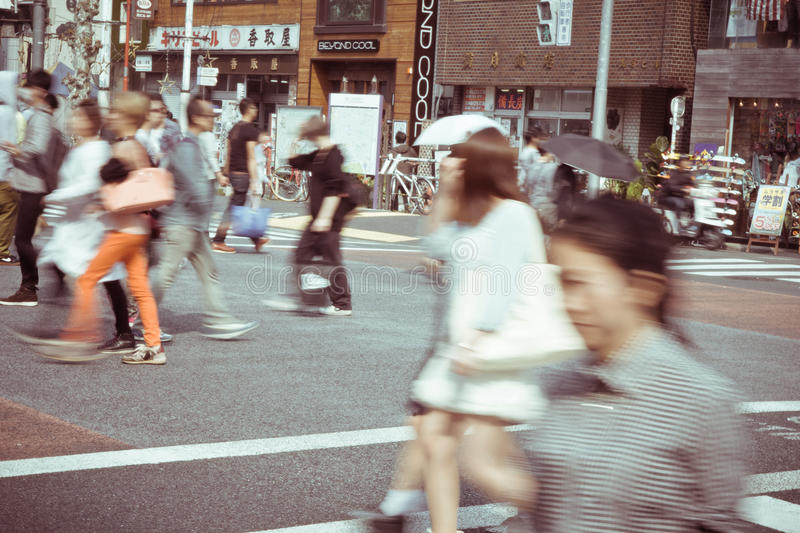 Download Tourists And Business People Crossing The Street At Harajiku Editorial Photo - Image: 41571826