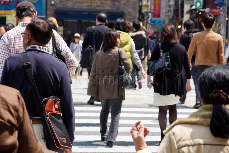 Download Tourists And Business People Crossing The Street Editorial Stock Photo - Image: 40944973