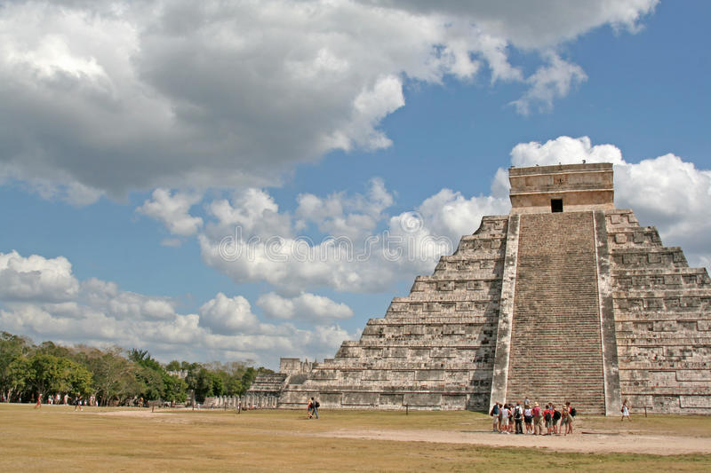 Download Tourists at Chichen Itza stock photo. Image of point - 29331880