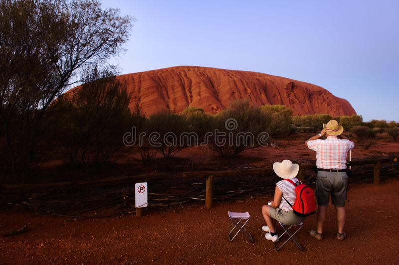 Download Tourists At A Dawn At Mountain. Editorial Photo - Image: 17995371