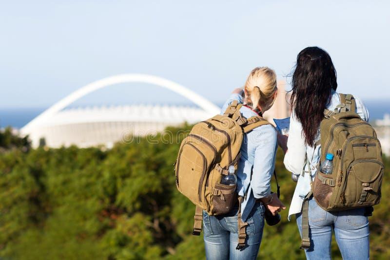 Tourists in Durban royalty free stock photos