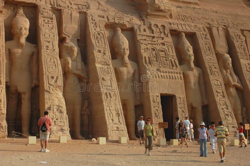 Tourists in Egypt royalty free stock photos