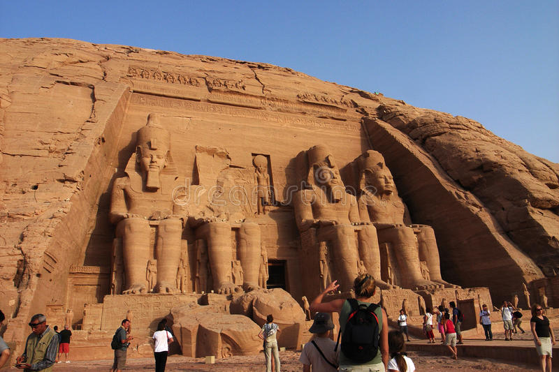 Tourists in Egypt royalty free stock images