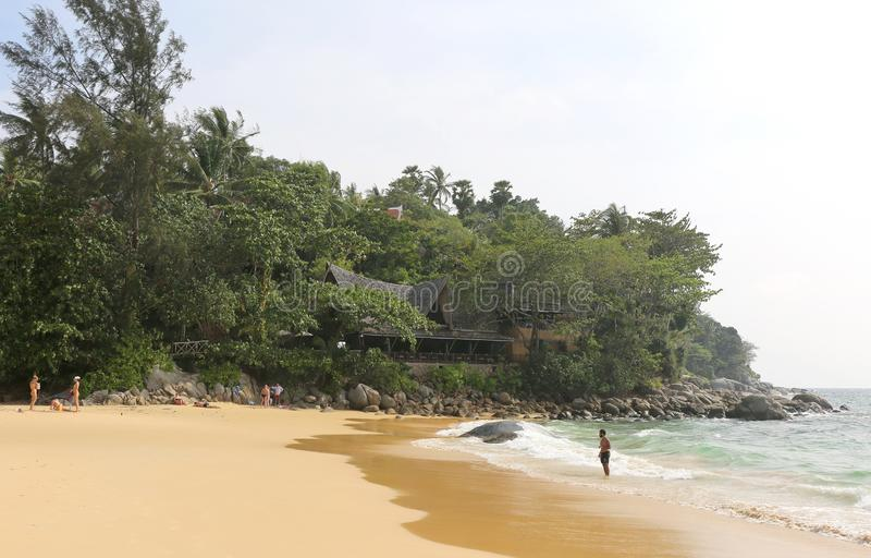 Tourists enjoying day at Karon Beach stock photography