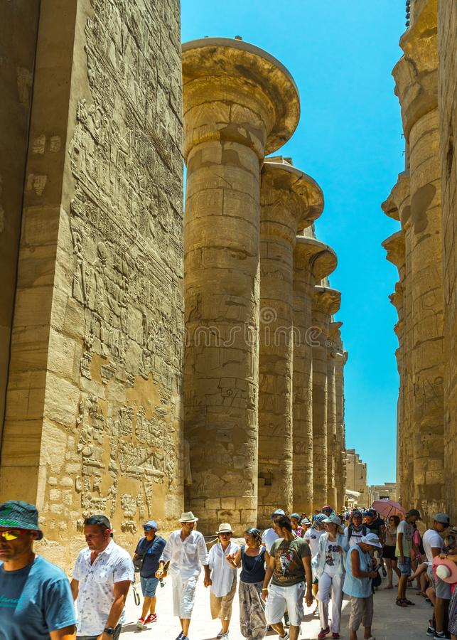 Free Tourists Enjoying The Luxor Temple Complex Royalty Free Stock Photos - 149435508