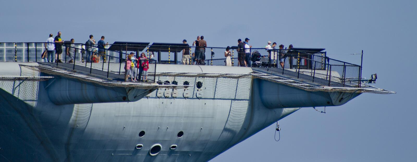 SAN DIEGO, CA - USS Midway tail view royalty free stock image