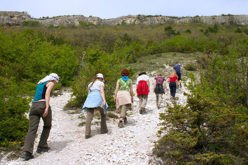 Download Tourists on excursion stock image. Image of wilderness - 2426647