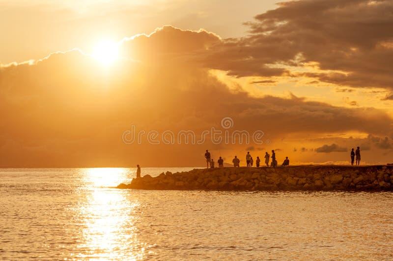 Beautiful Croatian coast stock photos
