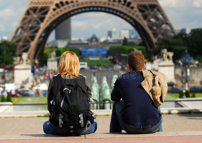 Tourists in France royalty free stock photos