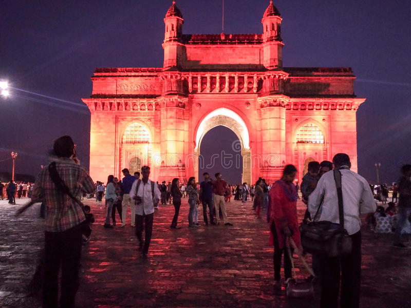 Tourists at Gateway Of India royalty free stock photo