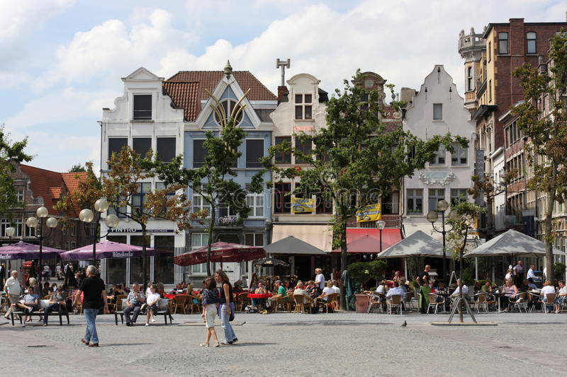 Tourists in Gent royalty free stock image