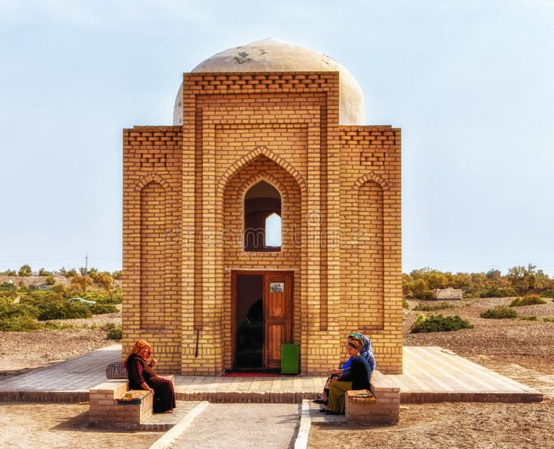 Tourists are getting in the Turabek Khanum Mausoleum royalty free stock photos