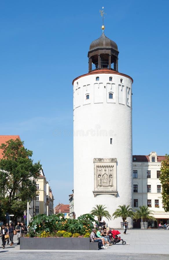 Tourists in Goerlitz royalty free stock photos