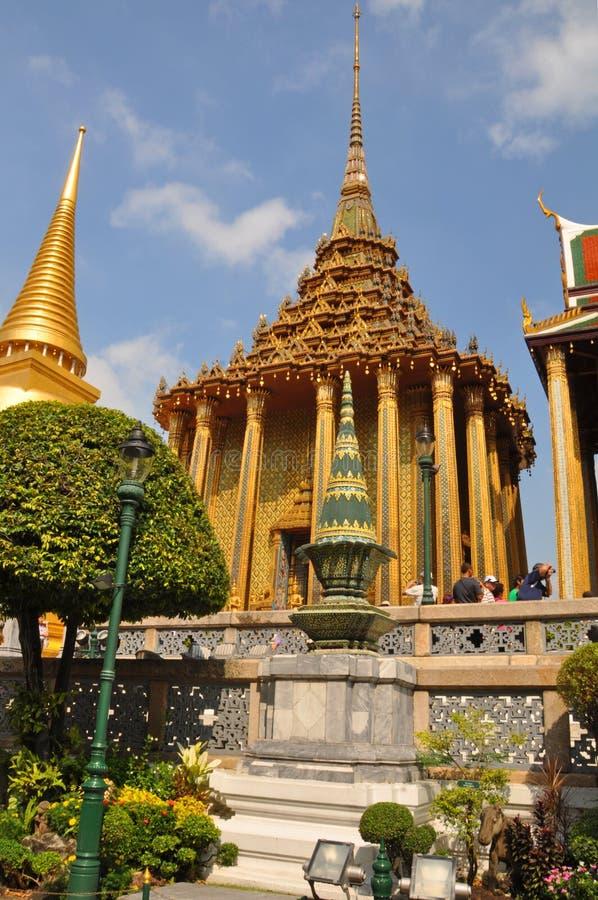 Tourists at the Grand Palace, Bangkok stock image