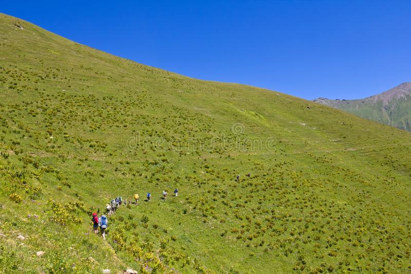 Download Tourists in a hike stock photo. Image of season, tourism - 25844796