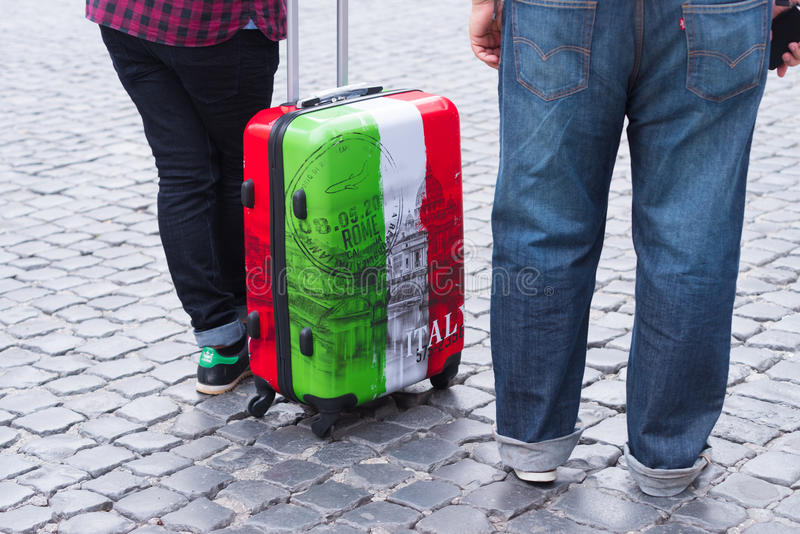 Tourists in italy stock photo