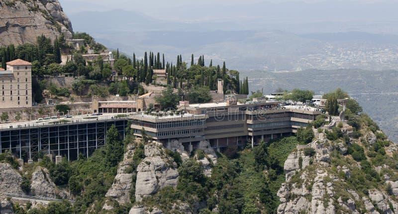 Tourists at Montserrat monastery stock image
