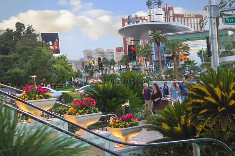 Tourists morning in Las Vegas at the hotel Encore royalty free stock photo