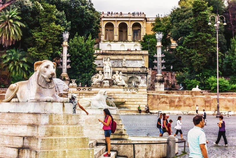 Rome Italy The Villa Borghese Park And Terrazza Del