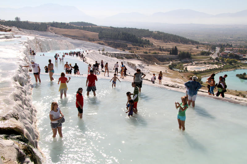 Download Tourists In Pamukkale Editorial Photography - Image: 34501107