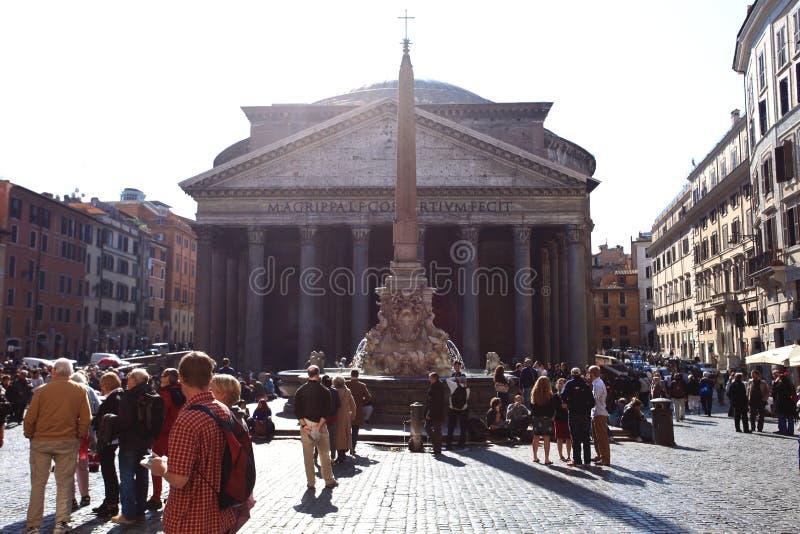 Tourists at the Pantheon stock images