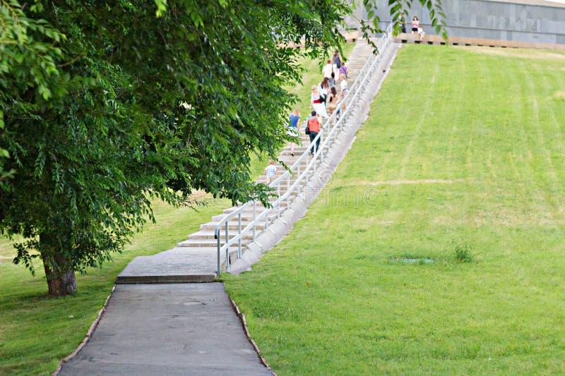 Tourists in park stock photos