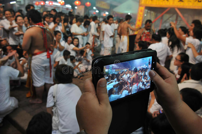 Download Tourists Photographs A Taoist Ceremony With Tablet Editorial Stock Image - Image: 25180984