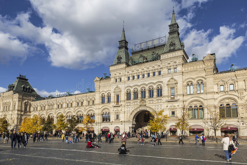 Tourists on red square at the weekend, Moscow. Russia stock photography