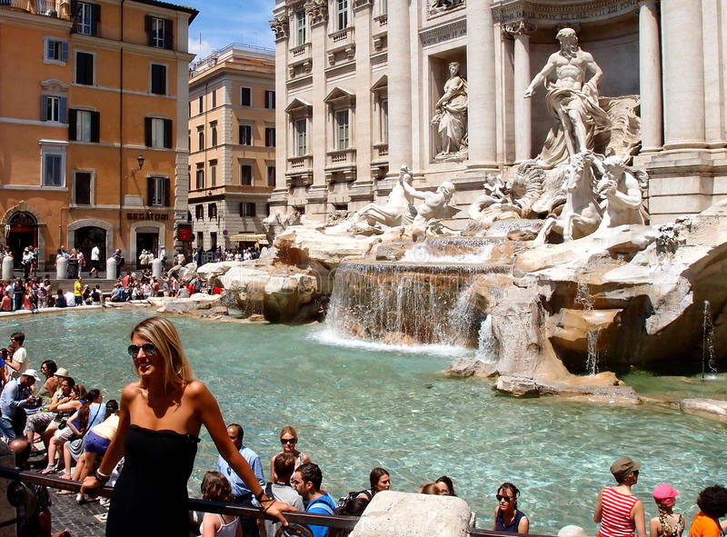 Tourists in Rome stock photos