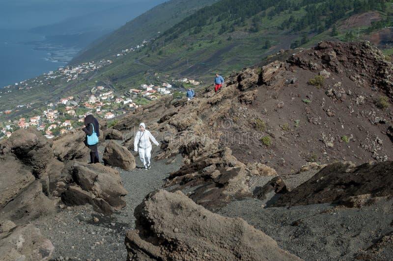 Tourists at San Antonio Volcano, La Palma, Canary Islands