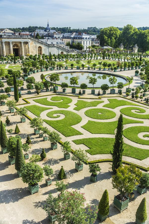 Chateau De Versailles Gardens In Paris, France. Editorial Stock ...