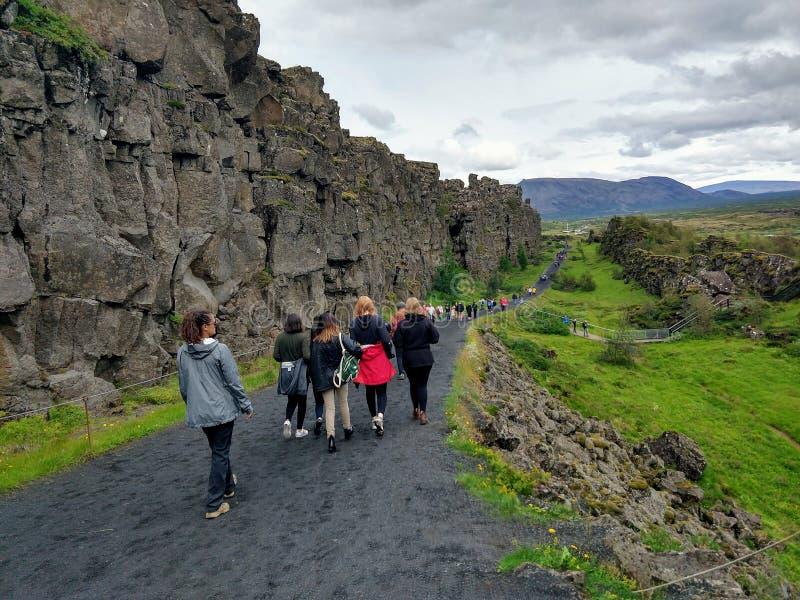Thingvellir national park in Iceland stock photography