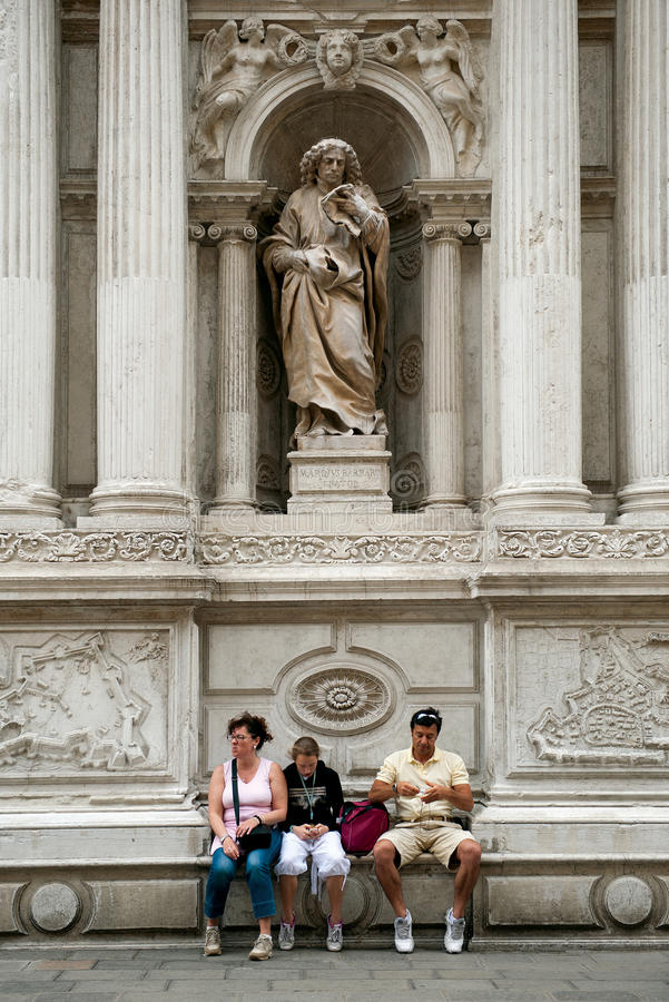 Tourists in Venice royalty free stock images