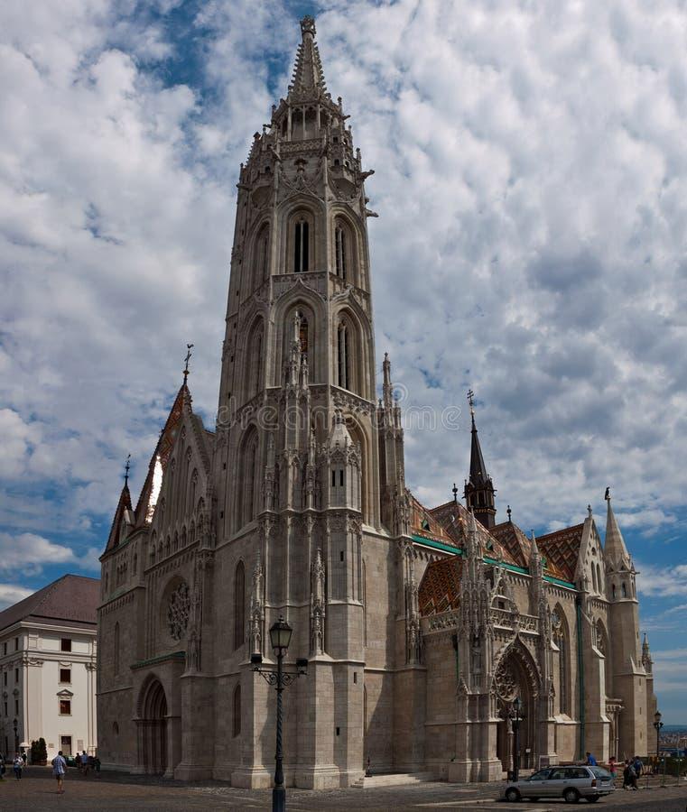 Tourists visit the historic St. Matthias Church