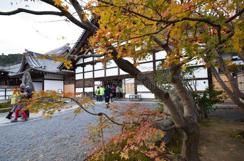 Tourists visit Tenryu-ji in Kyoto, Japan royalty free stock photography
