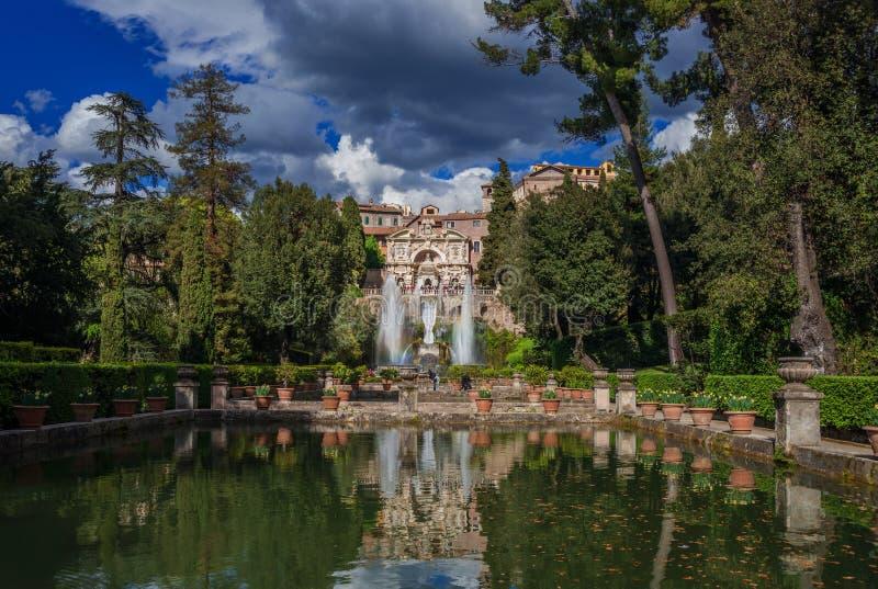 Villa d`Este in Tivoli stock images