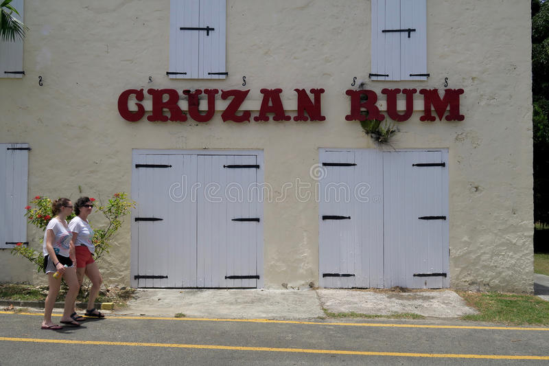 Tourists Visiting the Cruzan Rum Distillery. On the island of Saint Croix in the U.S. Virgin Islands royalty free stock image