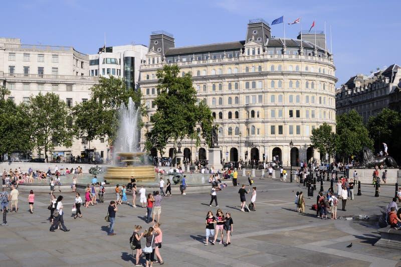 Tourists Visiting Trafalgar Square London Uk Editorial Stock Photo