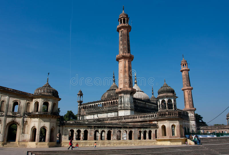 Tourists walking around Asfi mosque stock photography