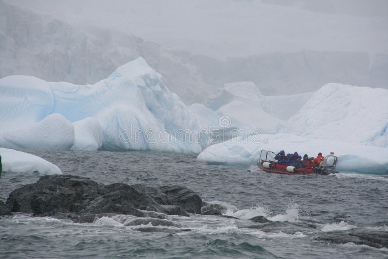 Download Tourists In Zodiac Offshore Among Icebergs Stock Photography - Image: 1711952