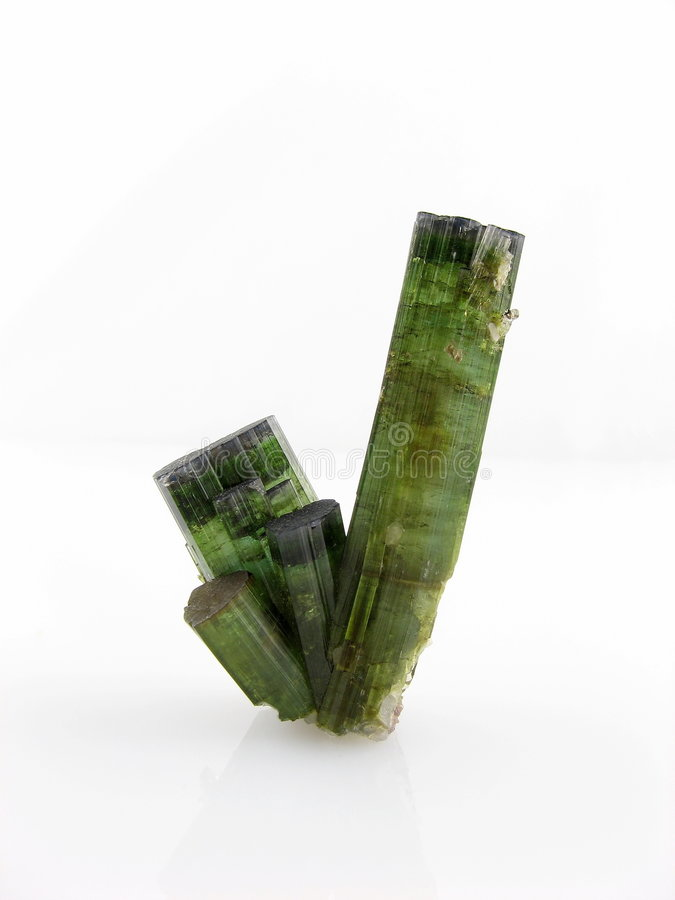 Tourmaline crystals stock photography