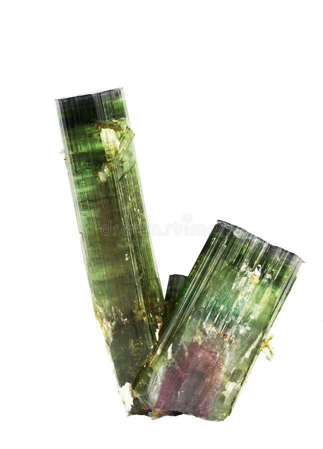 Tourmalinekristallen van de watermeloen royalty-vrije stock afbeelding