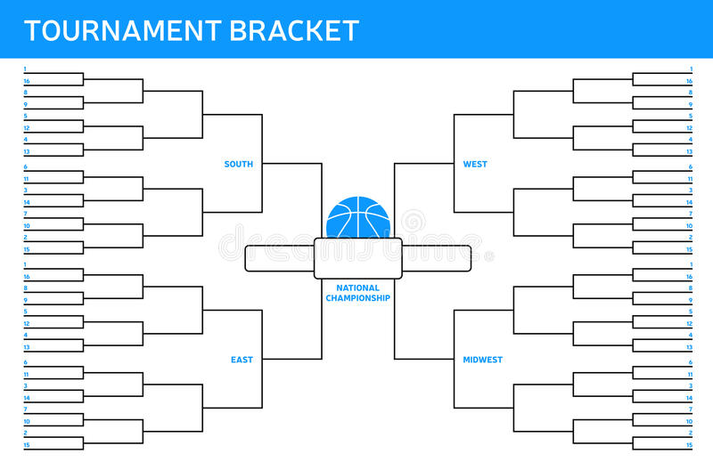 Tournament Bracket royalty free illustration