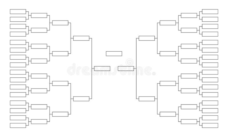 Blank Tournament Bracket Template For World Cup Competitions Stock