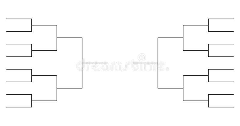 64 Team Bracket Template from thumbs.dreamstime.com