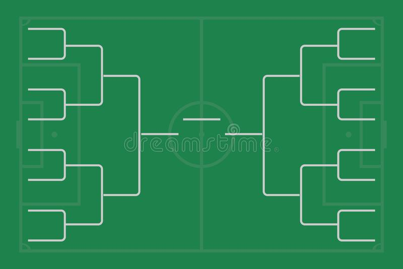 Tournament Bracket Vector. Championship Template. Stock Vector ...
