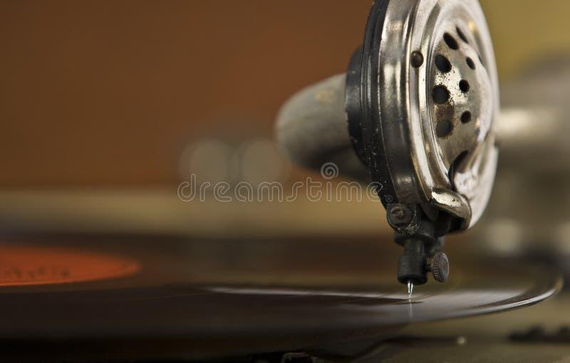 Tourne-disque d'enregistrement de portable de cru photos stock