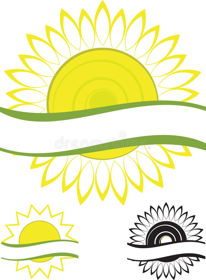 Tournesol de symbole photo stock